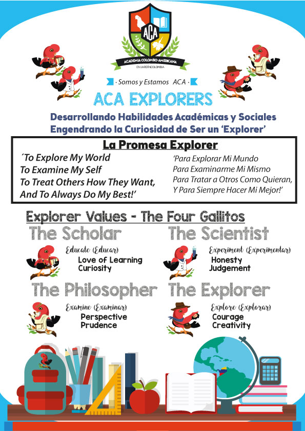 ACA Explorers Mission Statement, Values, and Leadership Positions