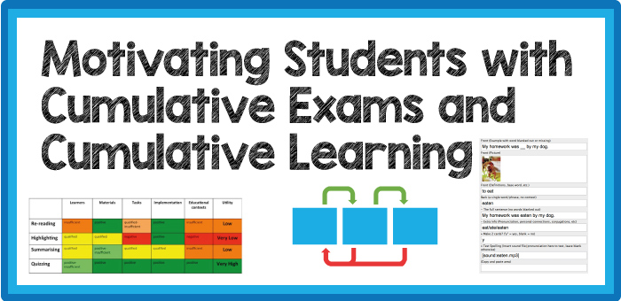 Motivating Students with Cumulative Exams and Cumulative Learning